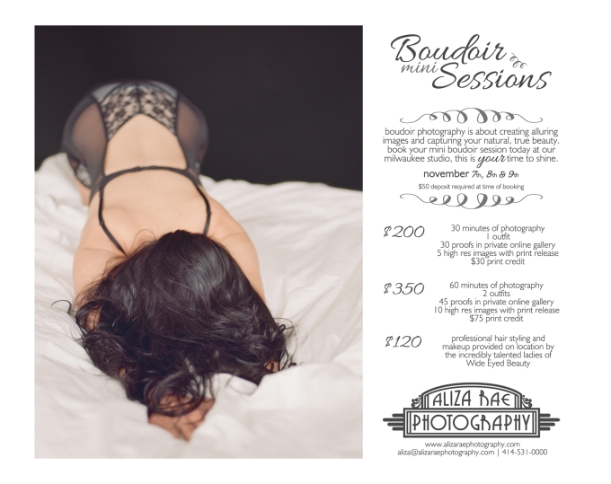 Boudoir Mini Session 5x7